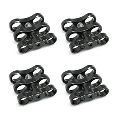 "4x 1"" Standard ball clamp for 1"" Ball underwater light arm system - A6XXX SALTED LINE"