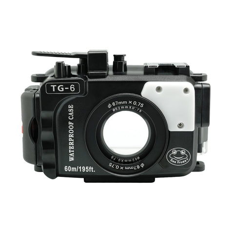 Olympus TG-6 60m/195ft SeaFrogs Underwater Camera Housing (Black) - A6XXX SALTED LINE