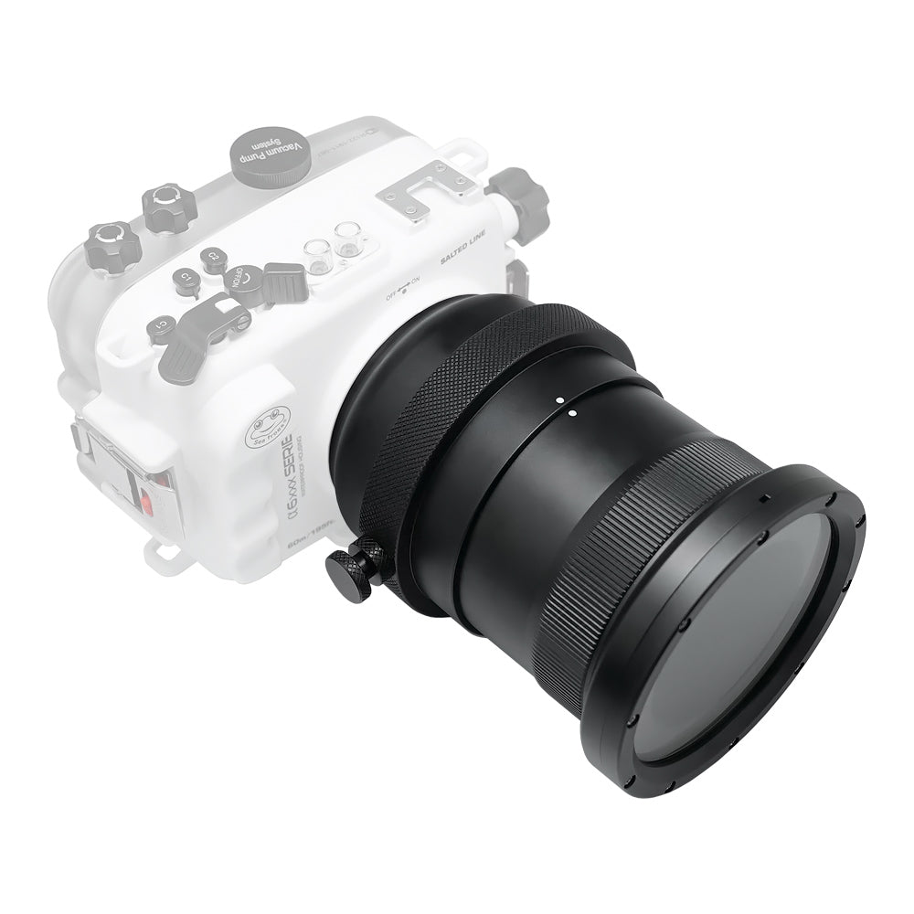 Flat long port with zoom control for A6xxx series Salted Line / SONY 70-200mm F4 lens