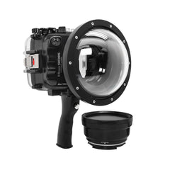 "SeaFrogs UW housing for Sony A6xxx series Salted Line with pistol grip & 6"" Dry dome port (Black) - Surfing photography edition / GEN 3"
