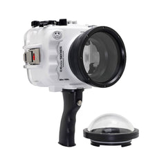 "SeaFrogs UW housing for Sony A6xxx series Salted Line with pistol grip & 4"" Dry Dome Port (White) - A6XXX SALTED LINE"