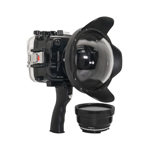 "SeaFrogs UW housing for Sony A6xxx series Salted Line with pistol grip & 6"" Dry dome port - A6XXX SALTED LINE"