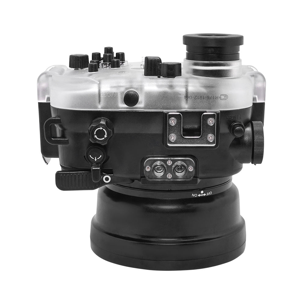 "60M/195FT Waterproof housing for Sony RX1xx series Salted Line with 4"" Dry Dome Port (Black)"