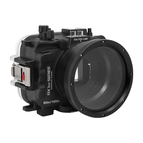 60M/195FT Waterproof housing for Sony RX1xx series Salted Line (Black) - A6XXX SALTED LINE