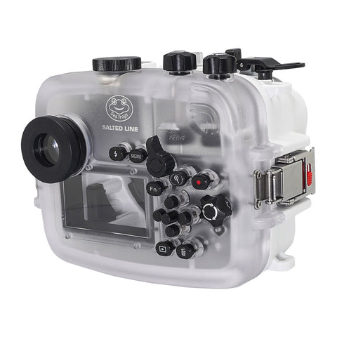 SeaFrogs 60M/195FT Waterproof housing for Sony A6xxx series Salted Line with pistol grip (White)
