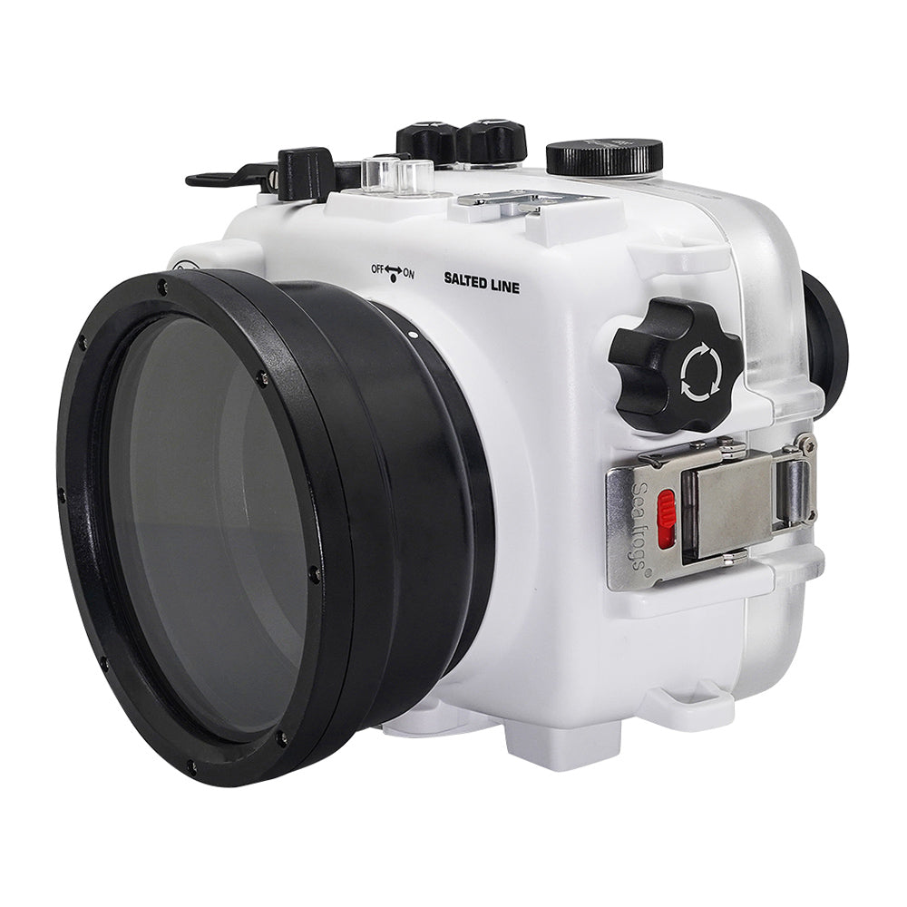 SeaFrogs UW housing for Sony A6xxx series Salted Line with 67mm threaded short / Macro port (White) - A6XXX SALTED LINE