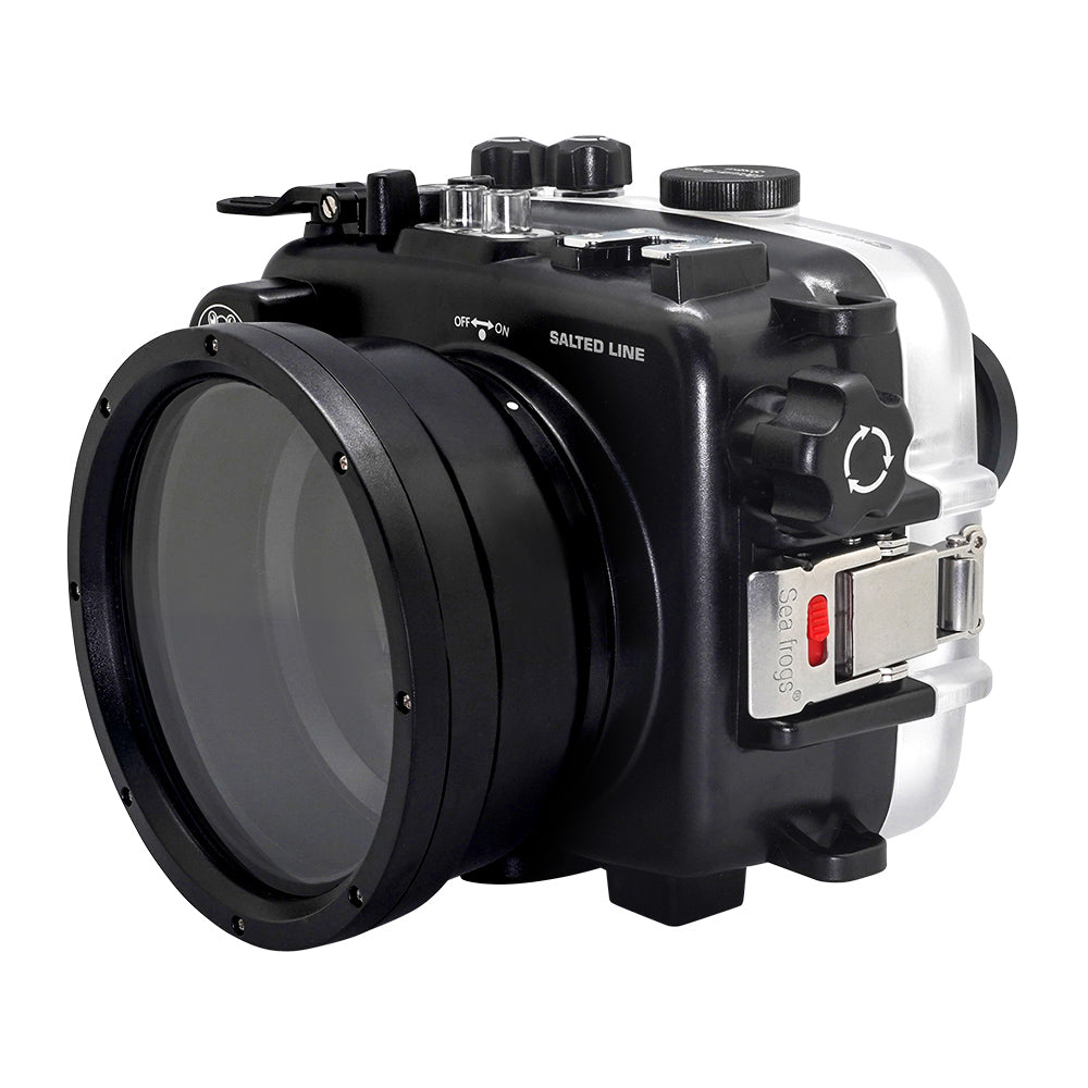 "SeaFrogs UW housing for Sony A6xxx series Salted Line with pistol grip & 6"" Dry dome port (Black) - A6XXX SALTED LINE"
