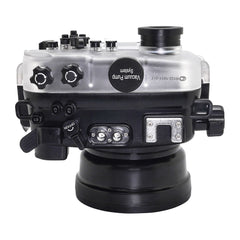 SeaFrogs 60M/195FT Waterproof housing for Sony A6xxx series Salted Line with pistol grip & 55-210mm lens port