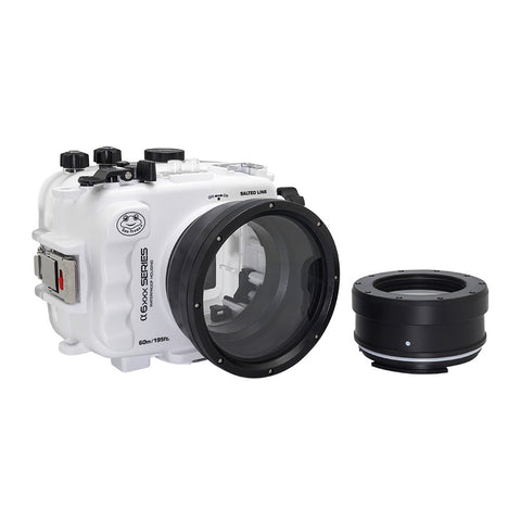 SeaFrogs UW housing for Sony A6xxx series Salted Line with 67mm threaded short / Macro port (White)