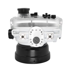 "60M/195FT Waterproof housing for Sony RX1xx series Salted Line with Pistol grip & 6"" Dry Dome Port(White) - A6XXX SALTED LINE"