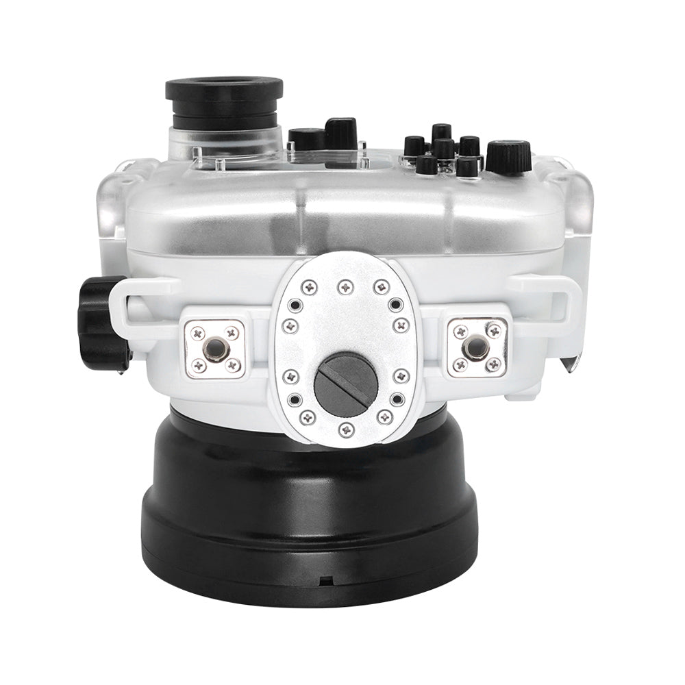 "60M/195FT Waterproof housing for Sony RX1xx series Salted Line with Pistol grip & 6"" Dry Dome Port - Surf (White) - A6XXX SALTED LINE"