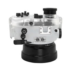 60M/195FT Waterproof housing for Sony RX1xx series Salted Line with Pistol grip (White) - A6XXX SALTED LINE