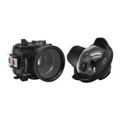 "60M/195FT Waterproof housing for Sony RX1xx series Salted Line with 6"" Dry Dome Port (Black) - A6XXX SALTED LINE"