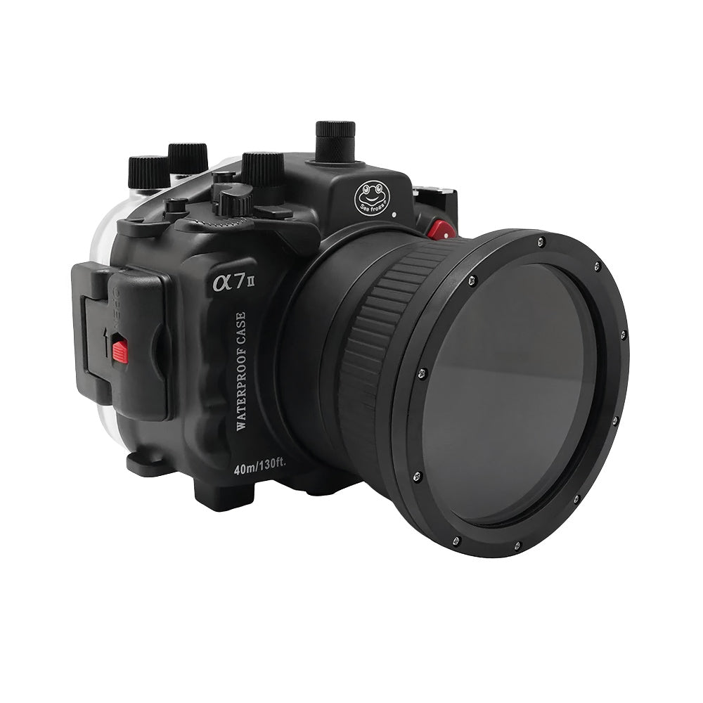 "Sony A7 II NG V.2 Series UW camera housing with 6"" Dome port (Including Standard port) Black"