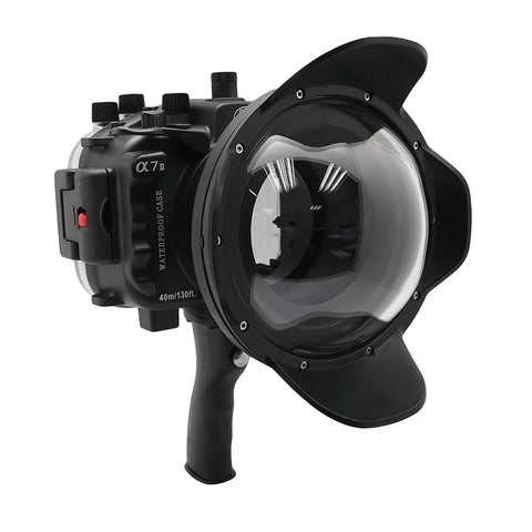 "Sony A7 II NG V.2 Series 40M/130FT UW housing with 6"" Dome port & pistol grip (Standard port) Black"