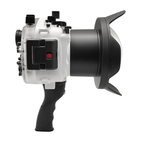 "Sony A7 II NG V.2 Series 40M/130FT UW housing with 6"" Dome port & pistol grip (Standard port) White"