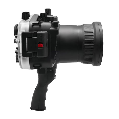Sony A7 II NG V.2 Series 40M/130FT Underwater camera housing with pistol grip (Long port) Black