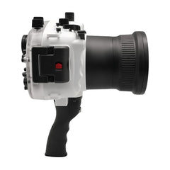 Sony A7 II NG V.2 Series 40M/130FT Underwater camera housing with pistol grip (Long port) White