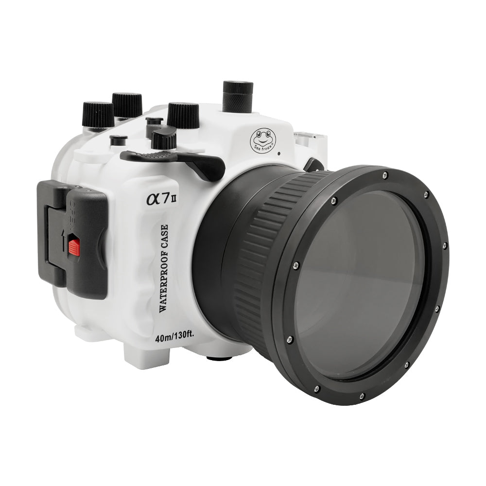 Sony A7 II NG V.2 Series 40M/130FT Underwater camera housing (Standard port) White