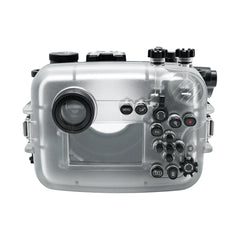 "Sony A6600 SeaFrogs 40M/130FT UW housing with 6"" Dry Dome Port for E10-18mm lens (zoom gear included) with Standard port for E16-50mm (zoom gear included)"