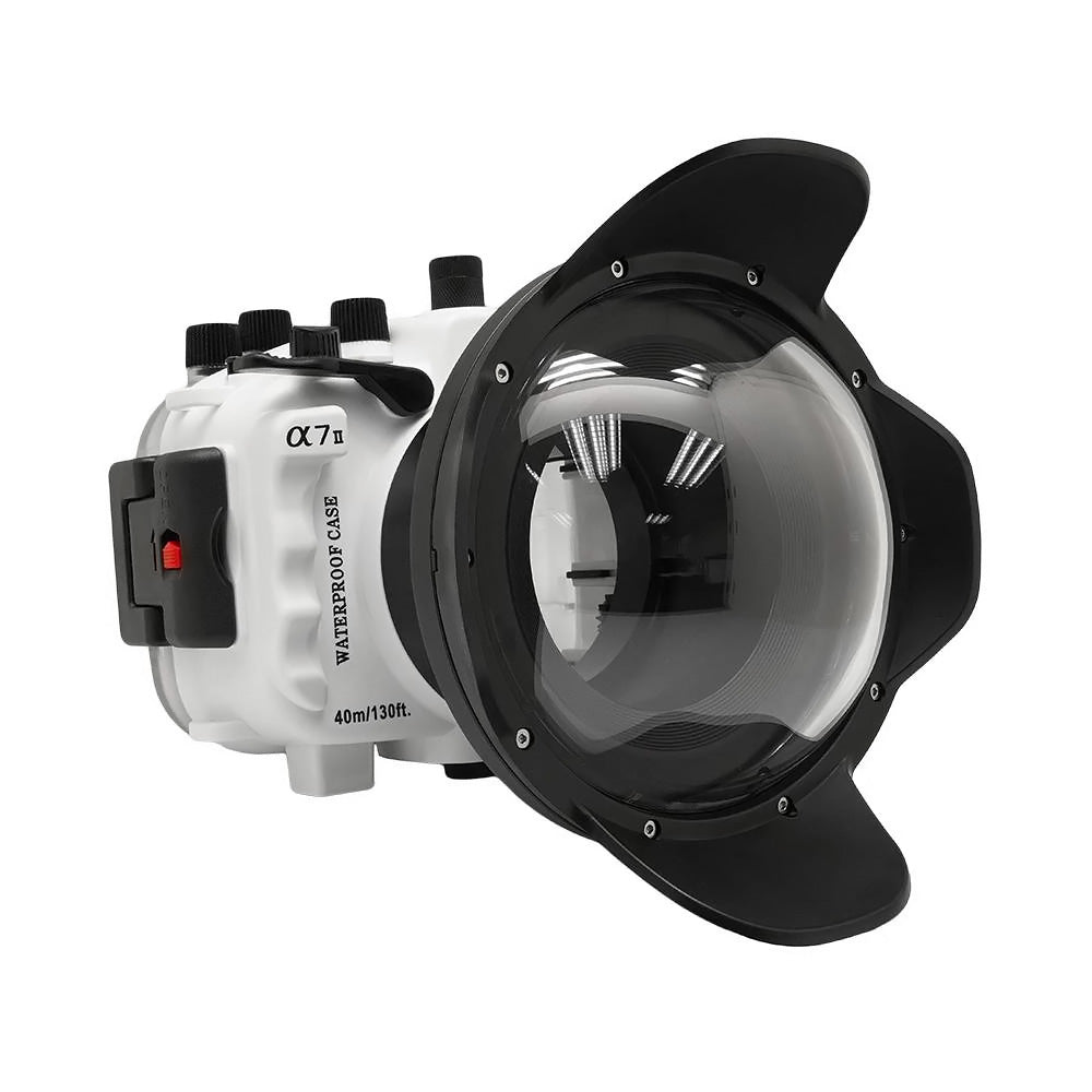 "Sony A7 II NG V.2 Series UW camera housing with 6"" Dome port (Including Standard port) White"