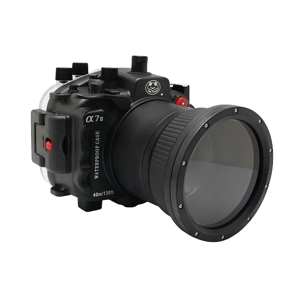 Sony A7 II NG V.2 Series 40M/130FT Underwater camera housing (Long port) Black