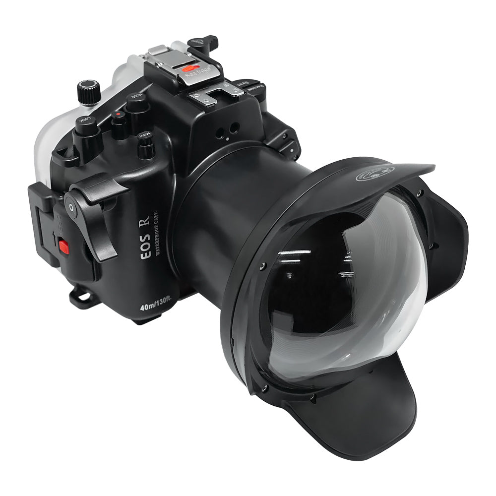 "SeaFrogs 40m/130ft Underwater camera housing for Canon EOS R kit with 6"" Dry Dome Port V.13"