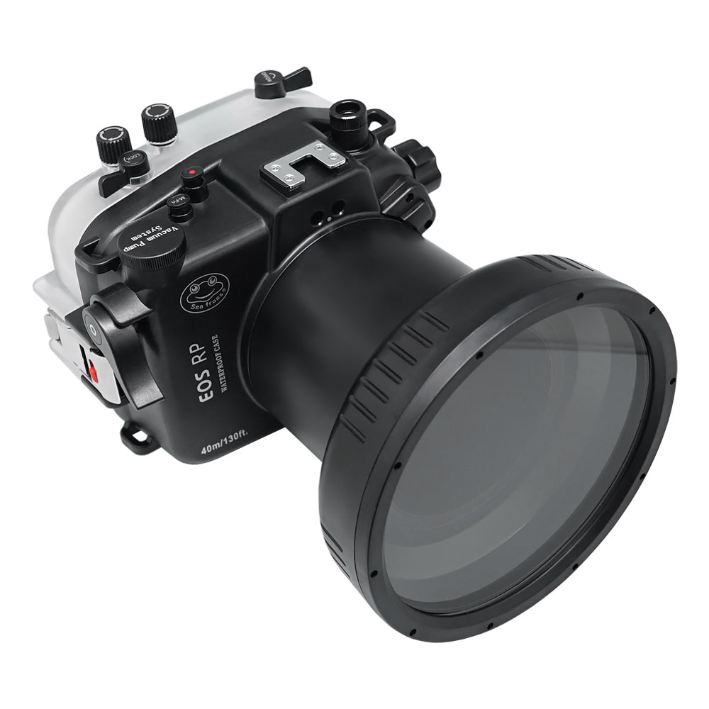 "SeaFrogs 40m/130ft Underwater camera housing for Canon EOS RP kit with 6"" Dry Dome Port V.13"