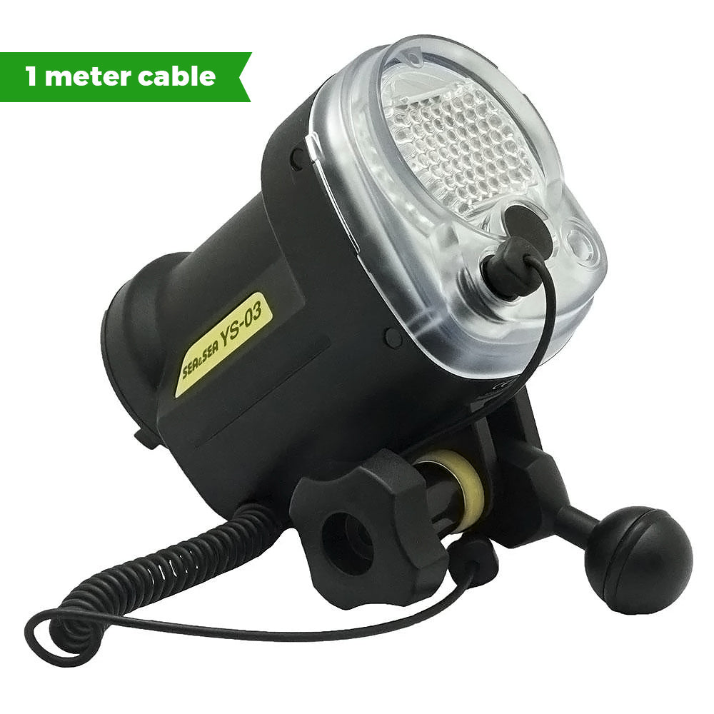 Sea & Sea YS-03 Underwater strobe / 1 meter fiber optic cable