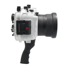 Sony A9 V.2 Series 40M/130FT Underwater camera housing with pistol grip (Standard port) Zoom ring for FE16-35 F4 included. White