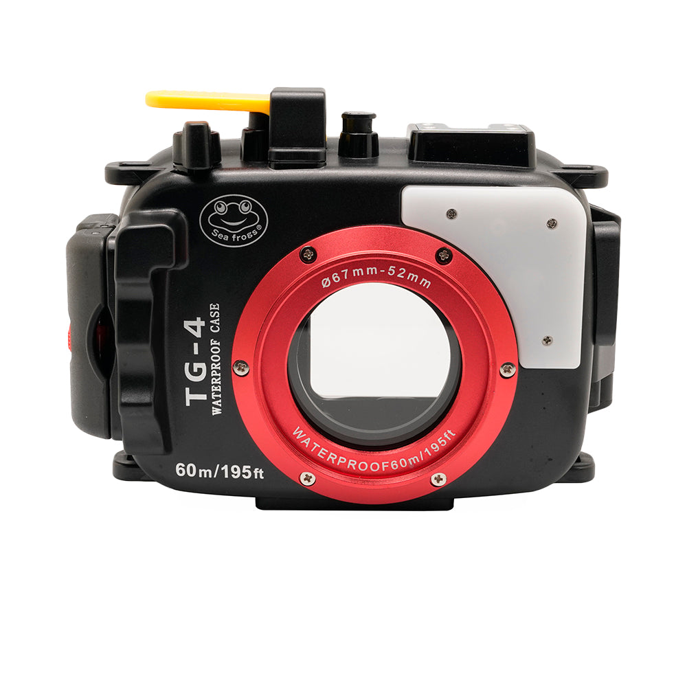 Olympus TG-3 / TG-4 60m/195ft SeaFrogs Underwater Camera Housing (Black) - A6XXX SALTED LINE