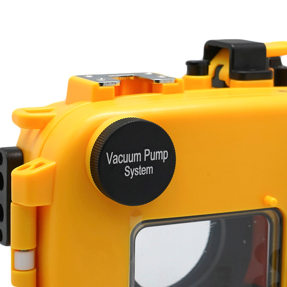 Olympus TG-5 60m/195ft SeaFrogs Underwater Camera Housing (Yellow) - A6XXX SALTED LINE