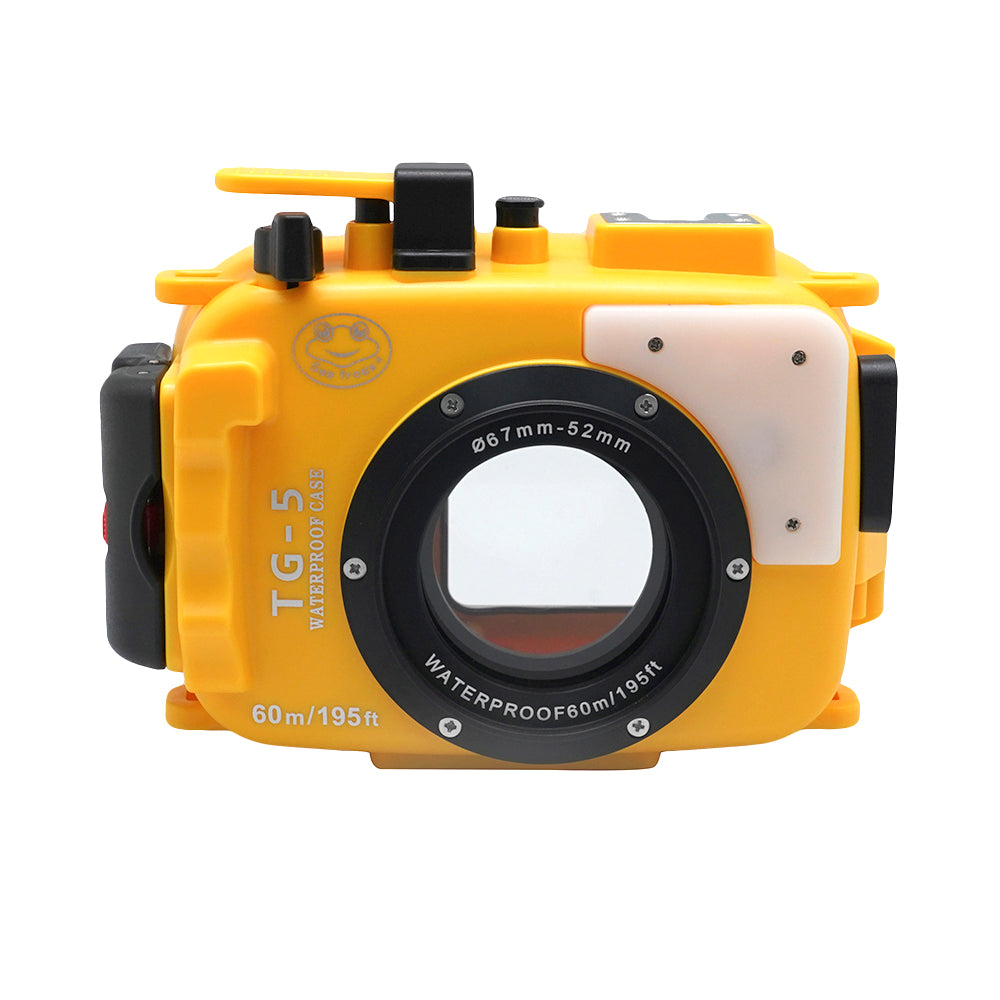 Olympus TG-5 / TG-6 60m/195ft SeaFrogs Underwater Camera Housing (Yellow) - A6XXX SALTED LINE