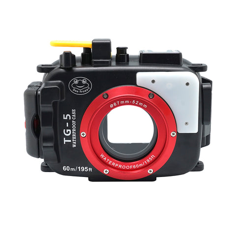 Olympus TG-5 60m/195ft SeaFrogs Underwater Camera Housing (Black) - A6XXX SALTED LINE