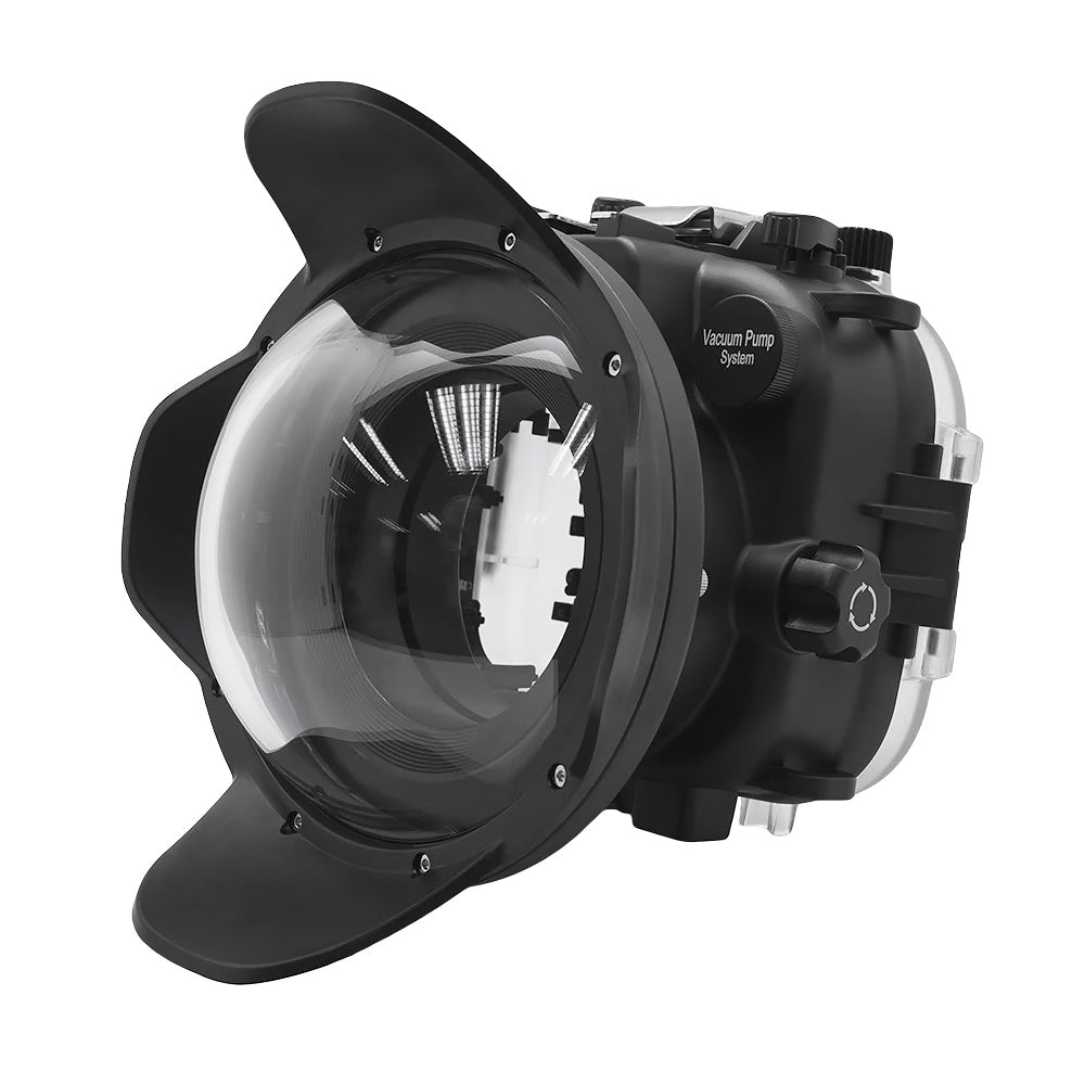 Fujifilm X-T3 40M/130FT Underwater camera housing kit with SeaFrogs Dry dome port V.1