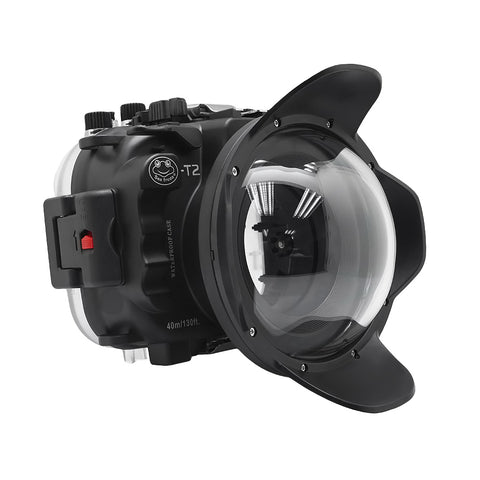 Fujifilm X-T2 40M/130FT Underwater camera housing kit with SeaFrogs Dry dome port V.1