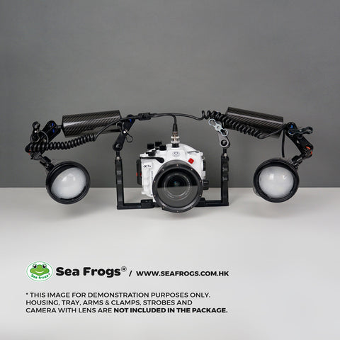 Sea Frogs Dual 5-Pin Sync Cord to Nikonos type bulkhead for underwater housings, 100M/330FT