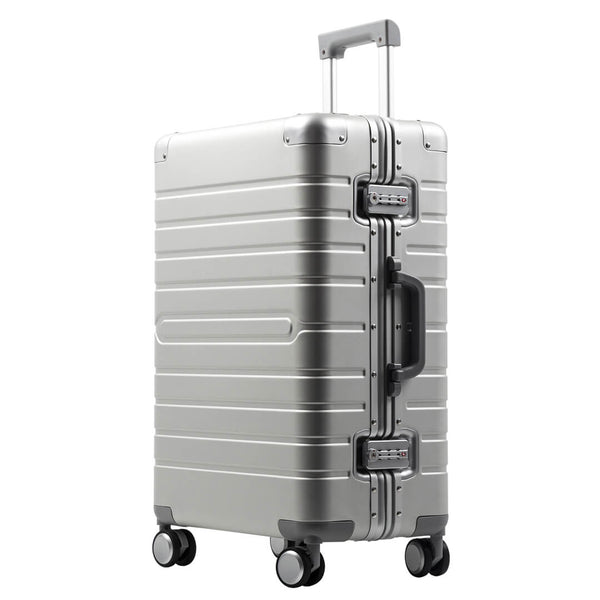 Kroeus Matte Finish Luggage Suitcase Aluminum Magnesium Alloy TSA Lock Large Capacity 8 Wheels