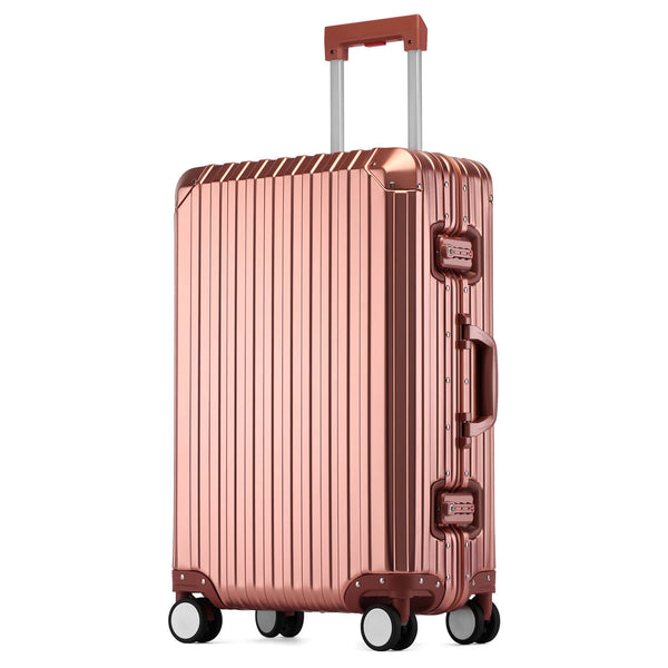 Kroeus Aluminum-magnesium alloy hard shell luggage suitcase