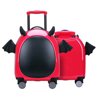 Lightweight suitcase Little devil Unisex Spinner 16 Inches Kids Luggage