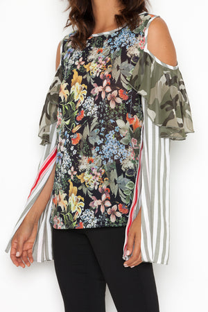 Leona Blouse in Multi-Floral