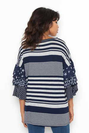 Havanna Top in Navy Heather