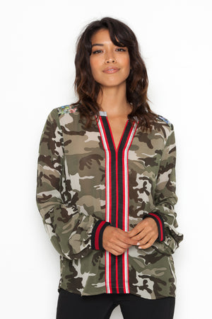 Jane Blouse in Camouflage