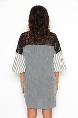 Valery Tunic in White/Black
