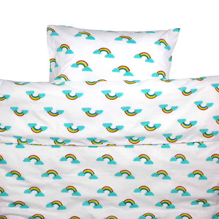Rainbow Toddler Cot Bed Duvet Set - Finberry