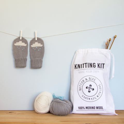 Cloud Mittens Knitting Kit - Finberry