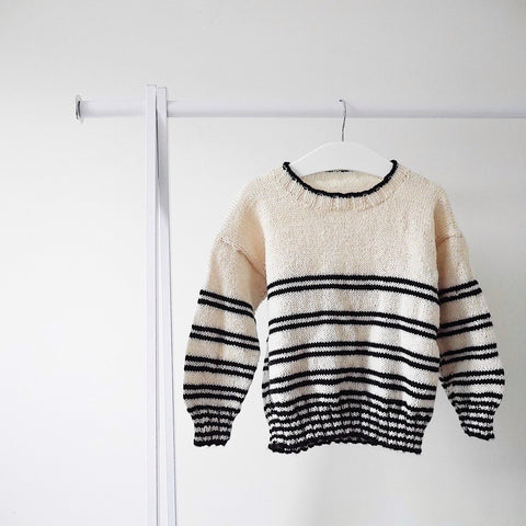 Black Stripe Jumper - Finberry