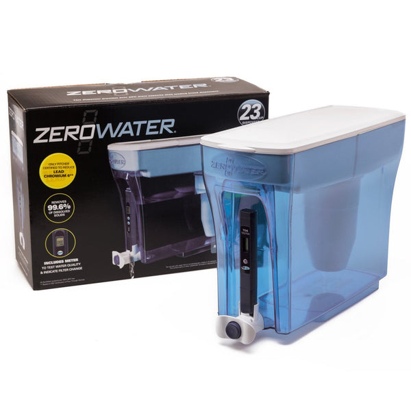 23 Cup Zerowater Water Filtration Dispenser Including Free