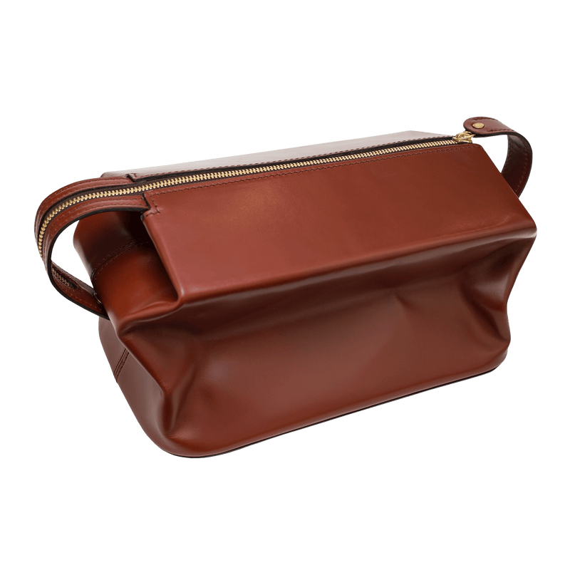 Expandable Travel Wash Bag - Havana