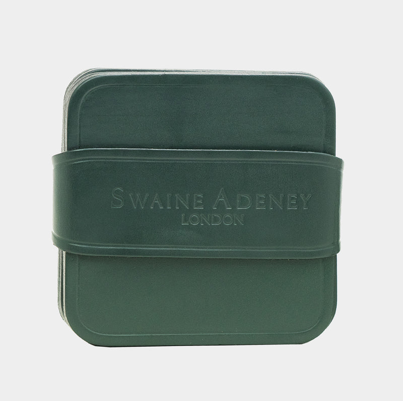 Swaine Adeney Brigg Square Coasters - Jaguar Green
